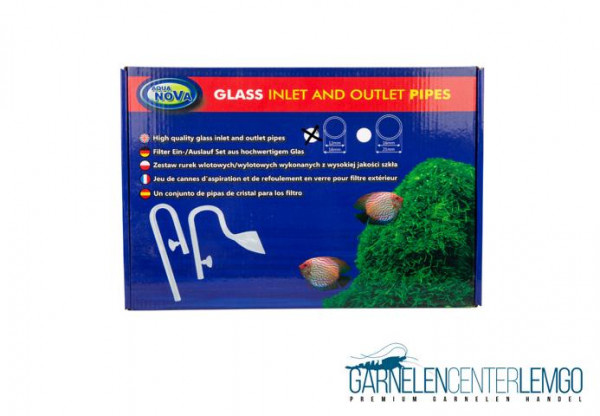 Aqua Nova CO2 Glas Outlet and Inlet Lily Pipe Set 12/16mm