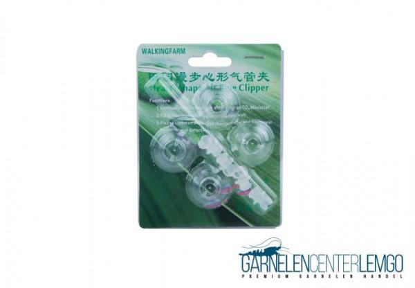 4er Pack Schlauch Halter 4/6mm mit Clip