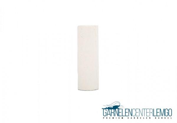 Garnelenrröhre mit Muster - ca. 6cm Weiß